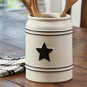 Country Star Utensil Crock by Park Designs - Country Star Dinnerware Collection