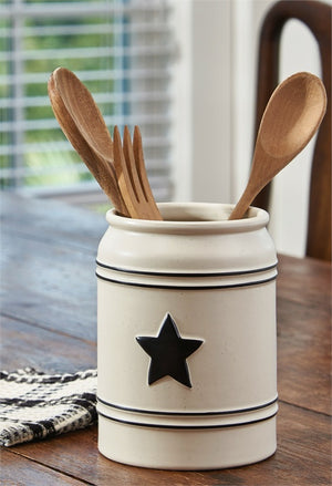 Country Star Utensil Crock by Park Designs - DL Country Barn