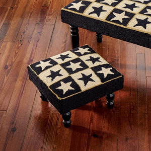 Black Star Hooked Stool | Country Primitive Furniture