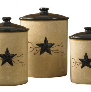Star Vine Canisters Set by Park Designs | Star Vine Dinnerware Collection