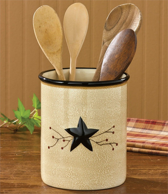 Star Vine Utensil Crock - ADD ON ITEM