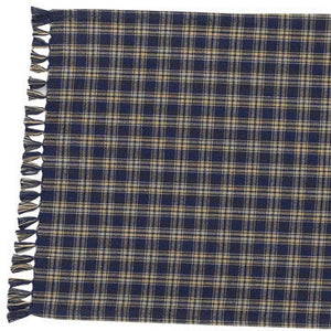 Cambridge Navy & Tan Plaid Table Runner