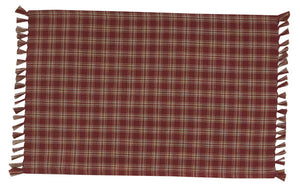 Cambridge Burgundy & Tan Plaid Table Runner