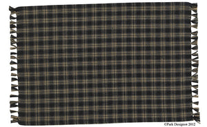Cambridge Black & Tan Plaid Table Runner