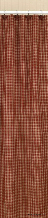 Burgundy & Tan Plaid Shower Curtain