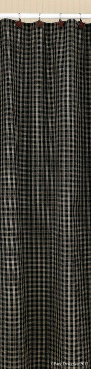 Cambridge Black & Tan Plaid Shower Curtain