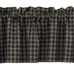Cambridge Black & Tan Plaid Valance