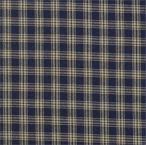 "Cambridge Navy & Tan Plaid Tiers 36""L"