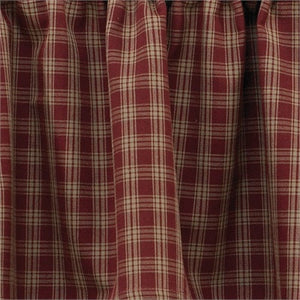 "Cambridge Burgundy & Tan Plaid Tiers 36""L"