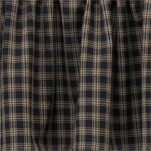"Cambridge Black & Tan Plaid Tiers 36""L"