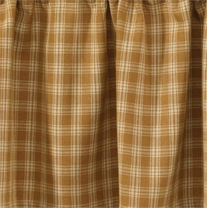 "Cambridge Mustard & Tan Plaid Panel Curtain 84""L"