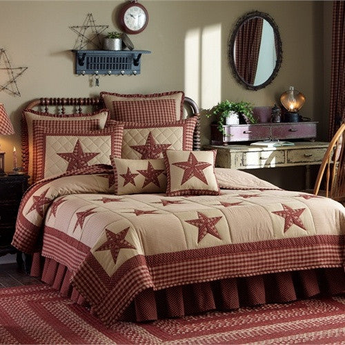 Sturbridge Patch Burgundy Bedding Collection