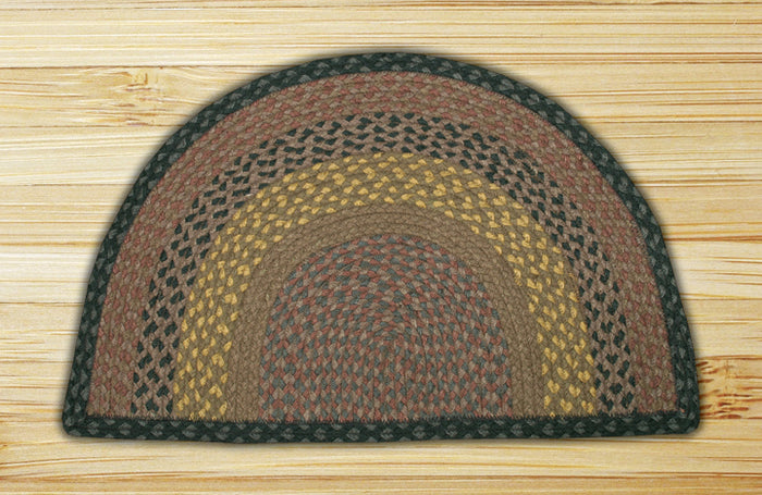 Brown/Black/Charcoal SC-099 Slice Jute Braided Rug