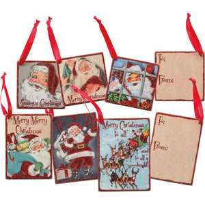 Retro Santa Gift Tag Set
