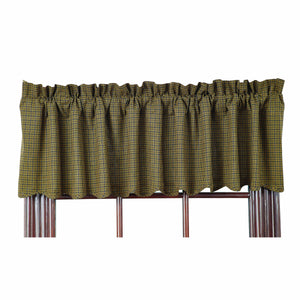 Tea Cabin Green Plaid Valance by VHC Brands