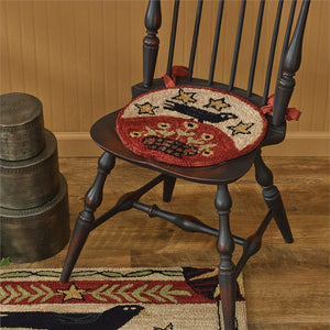 Folk Crow Hooked Chair Pad by Park Designs - DL Country Barn