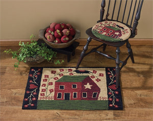 Red House Hooked Rug 24x36
