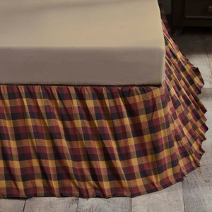 Heritage Farms Primitive Check Bed Skirt (Choose Size)