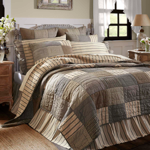 Sawyer Mill Charcoal Quilt (Choose Size)