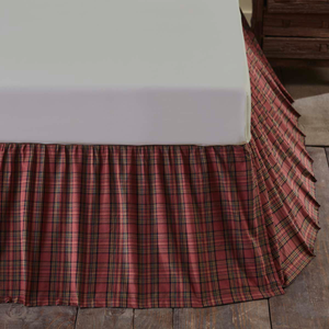 Tartan Red Bed Skirt (Choose Size)