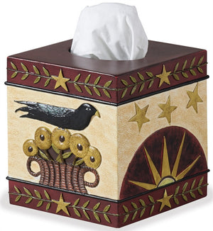 Folk Crow Tissue Box Cover by Park Designs - DL Country Barn