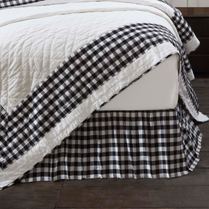 Annie Buffalo Check Black Bed Skirt (Choose Size)