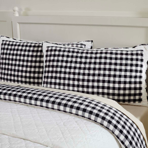 Annie Buffalo Check Black Pillow Sham