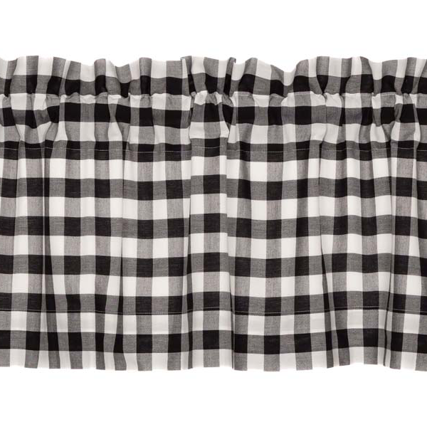 Annie Buffalo Check Black Valance