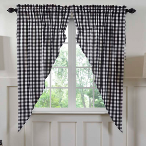 Annie Buffalo Check Black Prairie Curtain