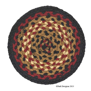 "8"" Cotton Braided Trivet - Folk Art"