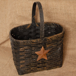 Grungy Market Basket - Black w/Star