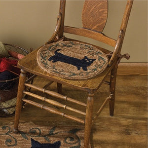 Cat Hooked Chair Pad
