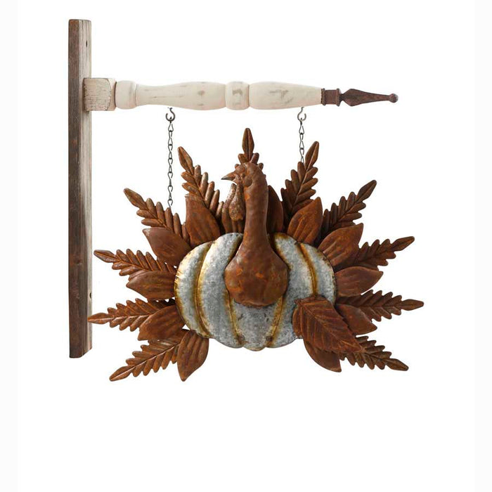 Tin Turkey with Rusty Tail Arrow Replacement Sign