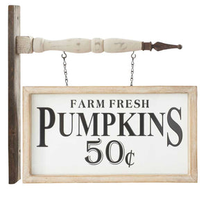 """Farm Fresh Pumpkins"" Arrow Replacement Sign by K&K Interiors"