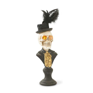 Halloween Skeleton Bust w/ LED Eyes - 18 inch