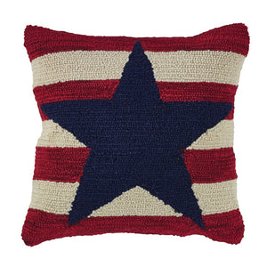 American Star Hooked Pillow
