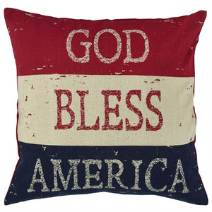 God Bless America Pillow 20 inch | Decorative Pillow