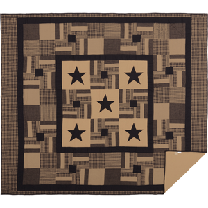 Black Star Check Quilt (Choose Size)