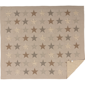 Sawyer Mill Star Charcoal Quilt (Choose Size)