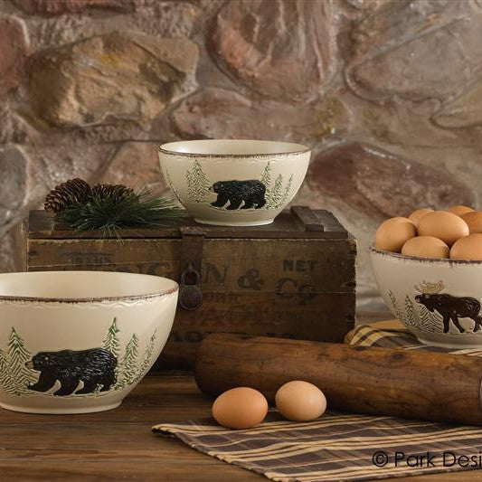 Rustic Retreat Mixing Bowls Set of 3 by Park Designs | Rustic Retreat Dinnerware Collection & Rustic Retreat Dinnerware Collection by Park Designs \u2013 DL Country Barn