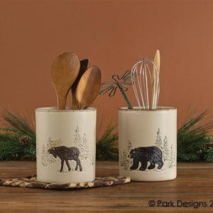 Rustic Retreat Utensil Crock by Park Designs | Rustic Retreat Dinnerware Collection