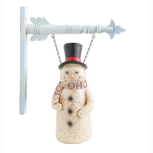Resin Snowman With HoHoHo Scarf Arrow Replacement Sign - Special Order
