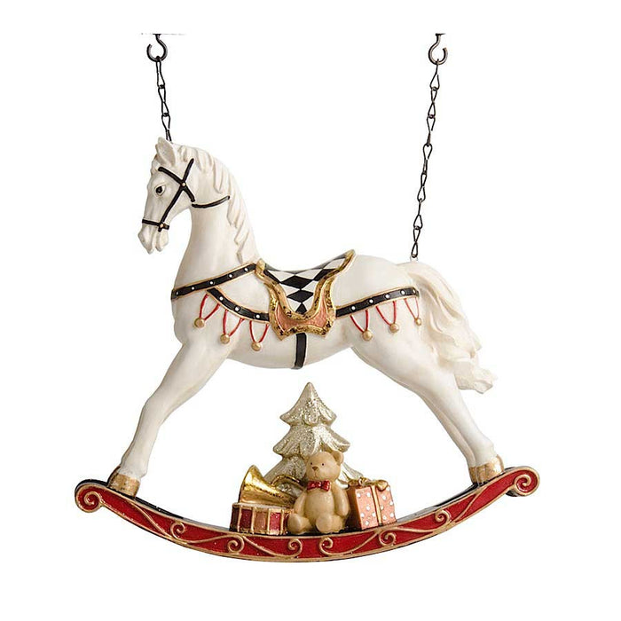 Rocking Horse with Christmas Present Arrow Replacement Sign