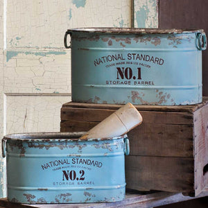 National Standard Bucket Set | Farmhouse Vintage Style Containers