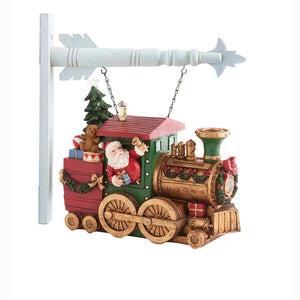 Resin Santa Train With Toys and LED Light Arrow Replacement Sign
