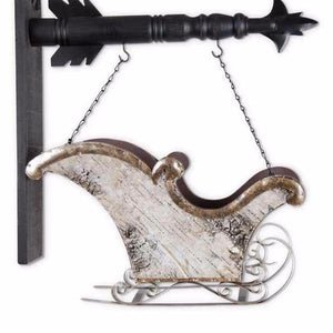 Antiqued Metal Sleigh Arrow Replacement Sign