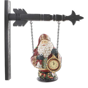Santa with Clock Arrow Replacement Sign by K&K Interiors