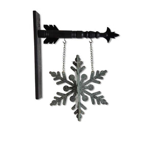 3D Tin Snowflake Arrow Replacement Sign