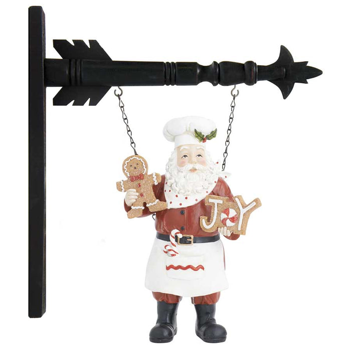 Chef Santa Holding Cookies Arrow Replacement Sign