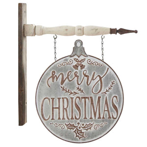 Metal Merry Christmas Double-Sided Arrow Replacement Sign by K&K Interiors